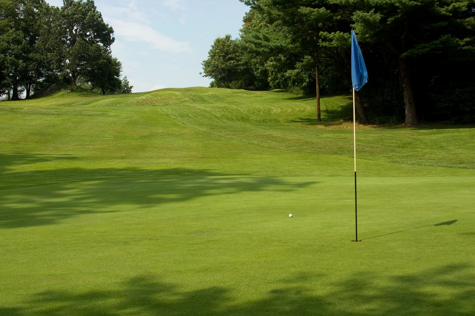 A hole at Pehquenakonck Country Club in North Salem is pictured on a sunny day