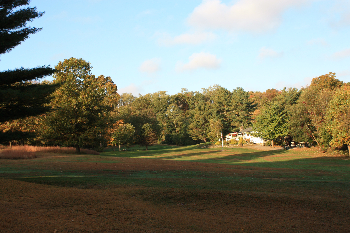 The golf course at Pehquenakonck Country Club is pictured in the fall