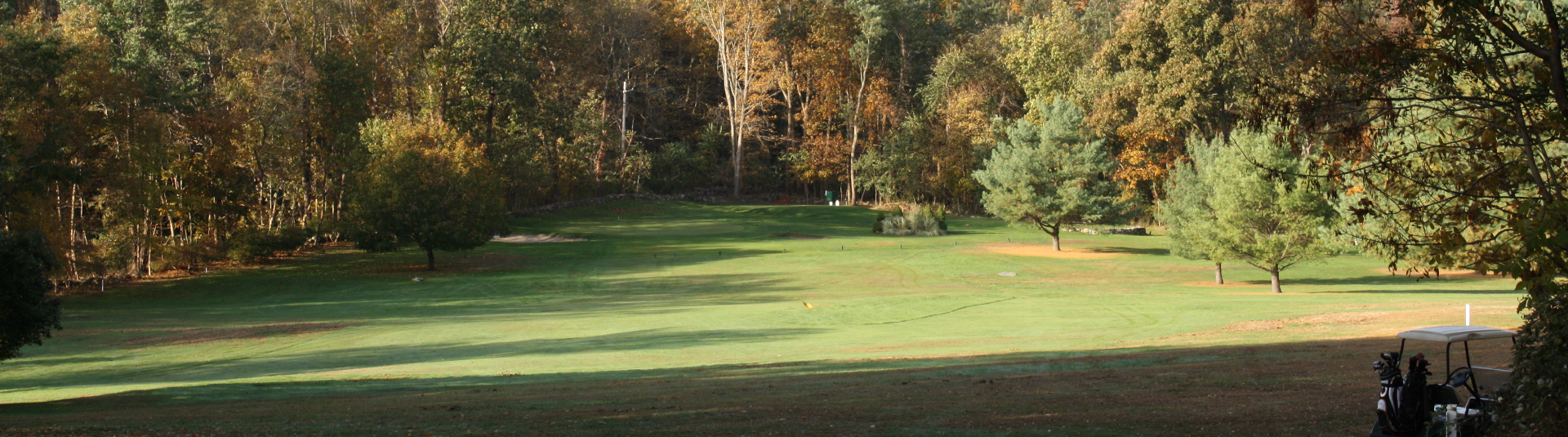 Beautiful woods surround the course at Pehquenakonck Country Club in North Salem